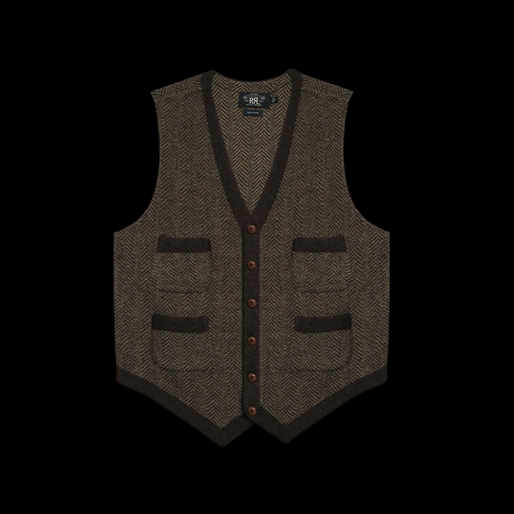 RRLWOOL SWEATER KNITVEST