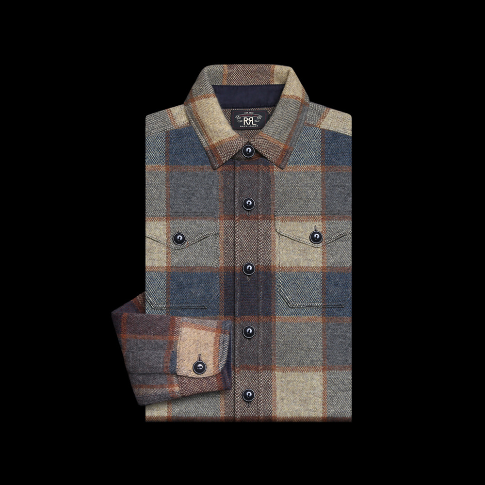 RRLWOOL CHECK SHIRT