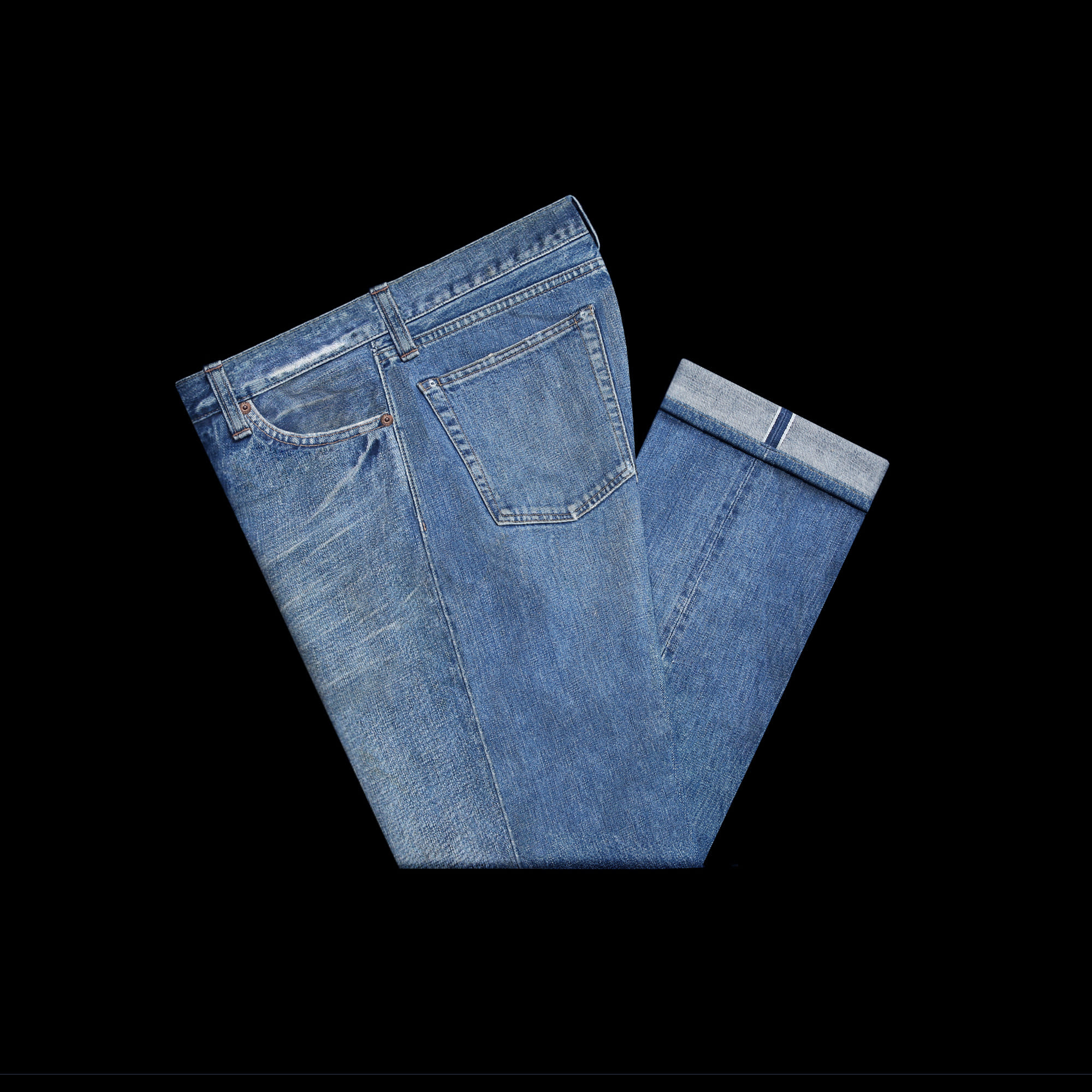 RRLCOTTON SELVEDGE DENIM