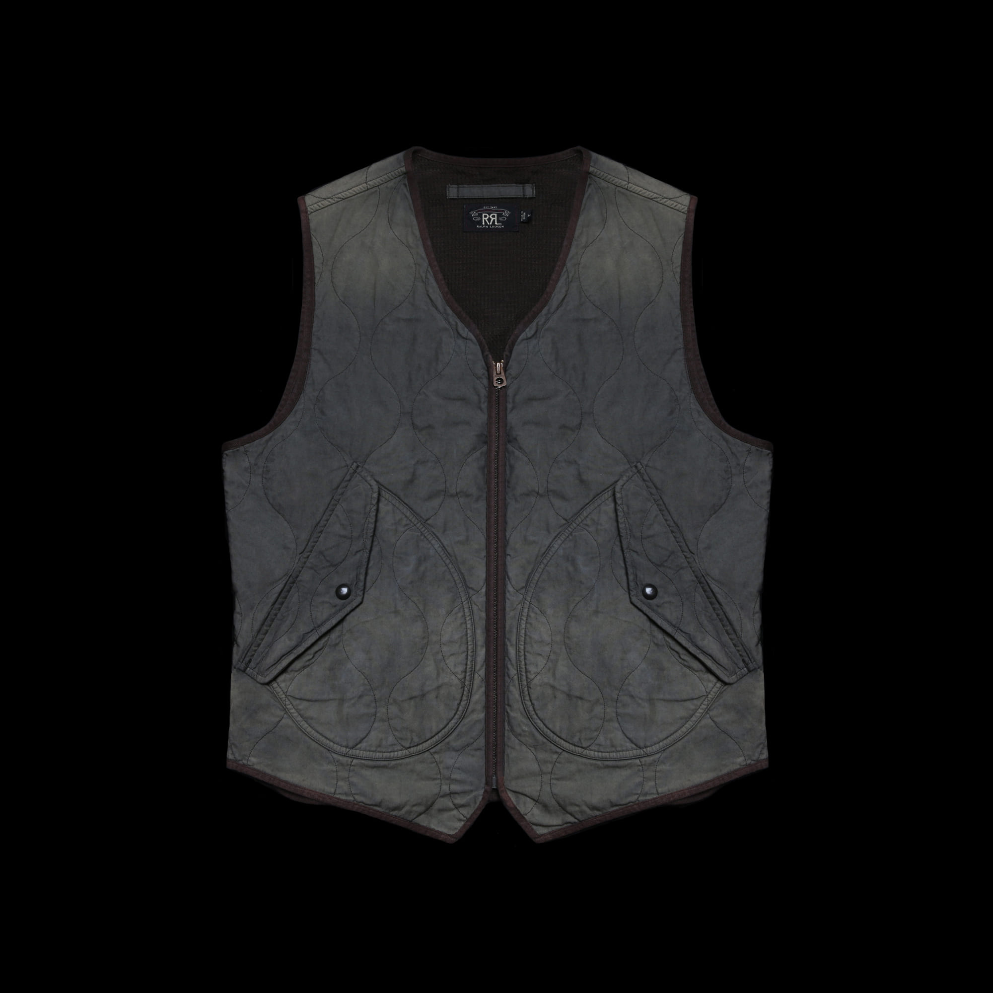 RRLJENKINS QUILTED OXFORDVEST