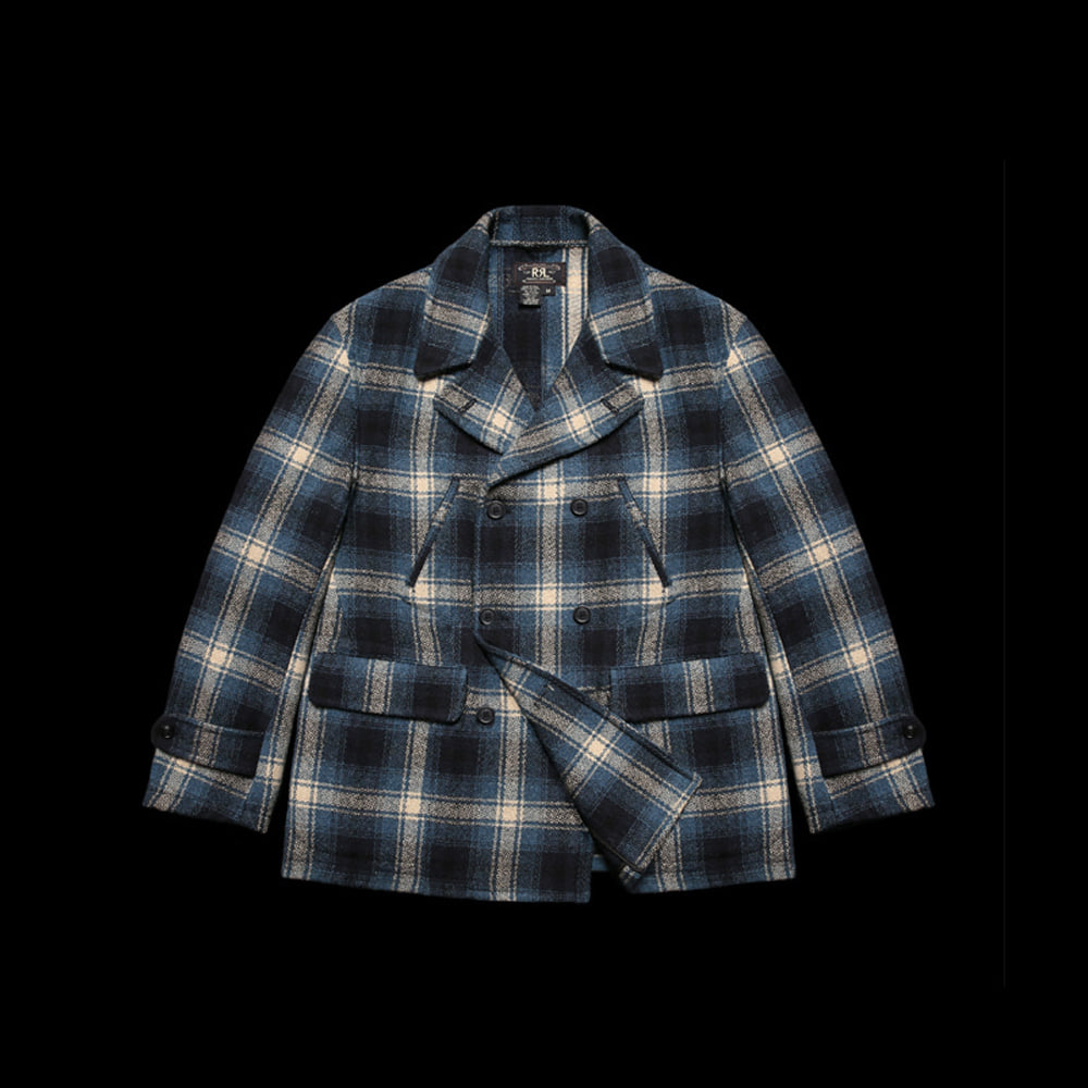 RRLTWEED PLAID CHECKEDCOAT