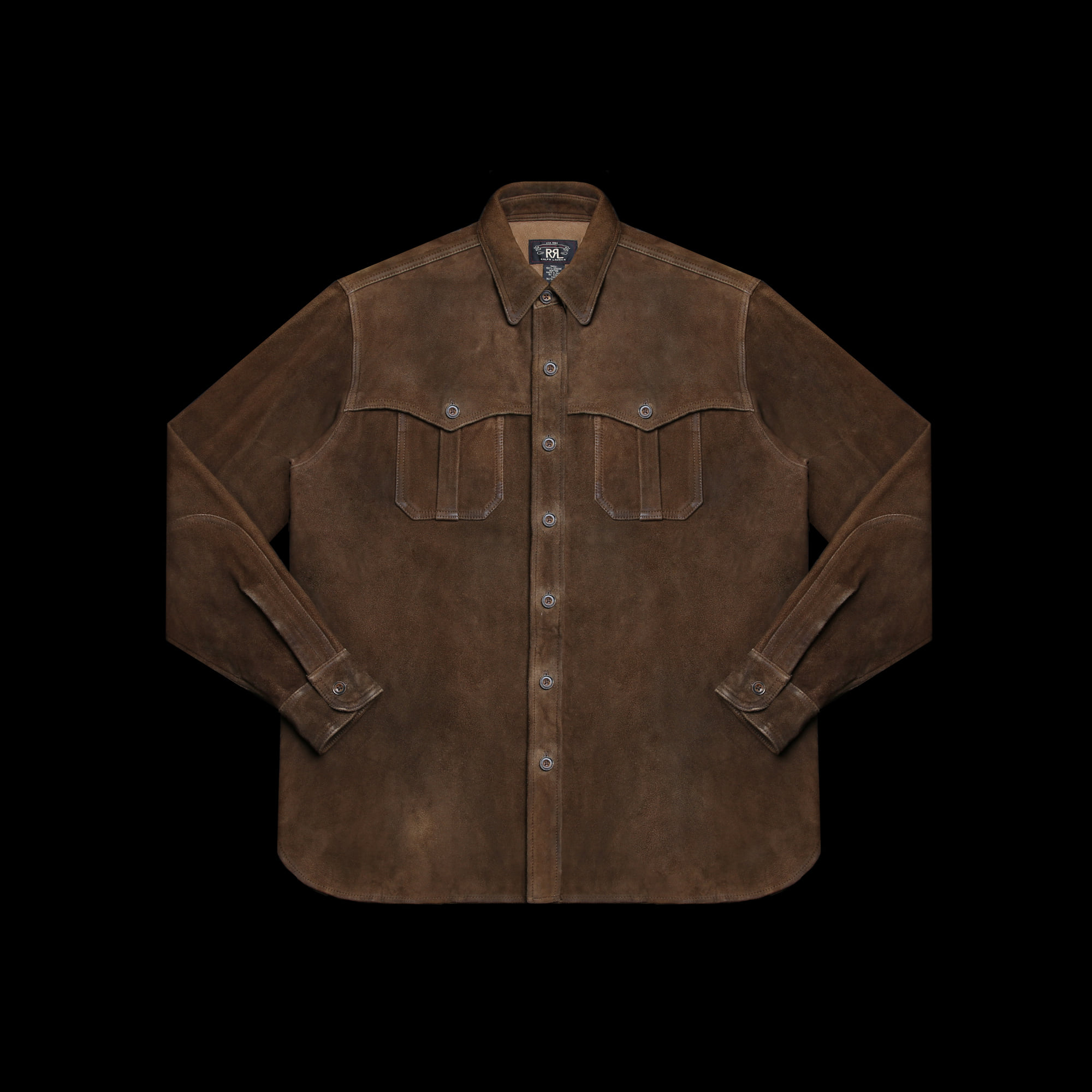 RRLSUEDE LEATHER SHIRT