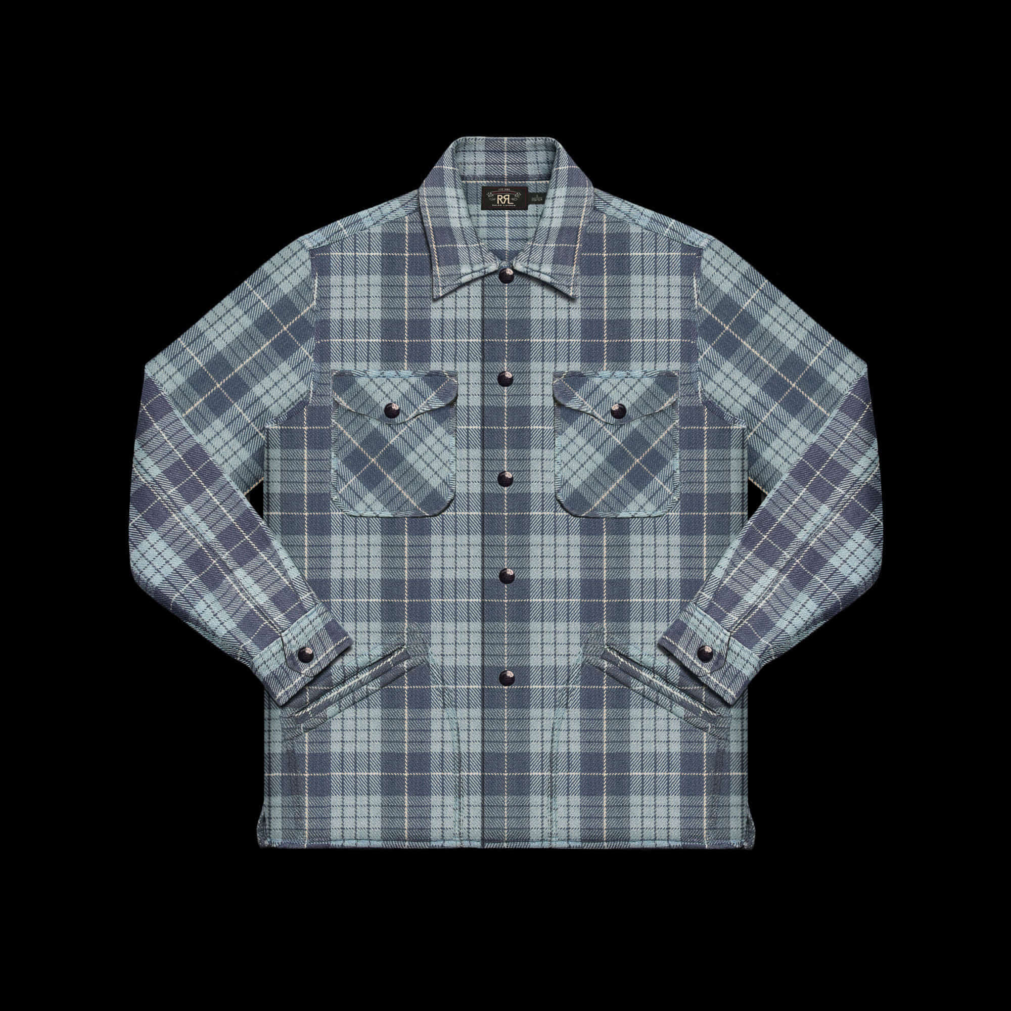 RRLPLAID TWILL CHECKSHIRT JACKET