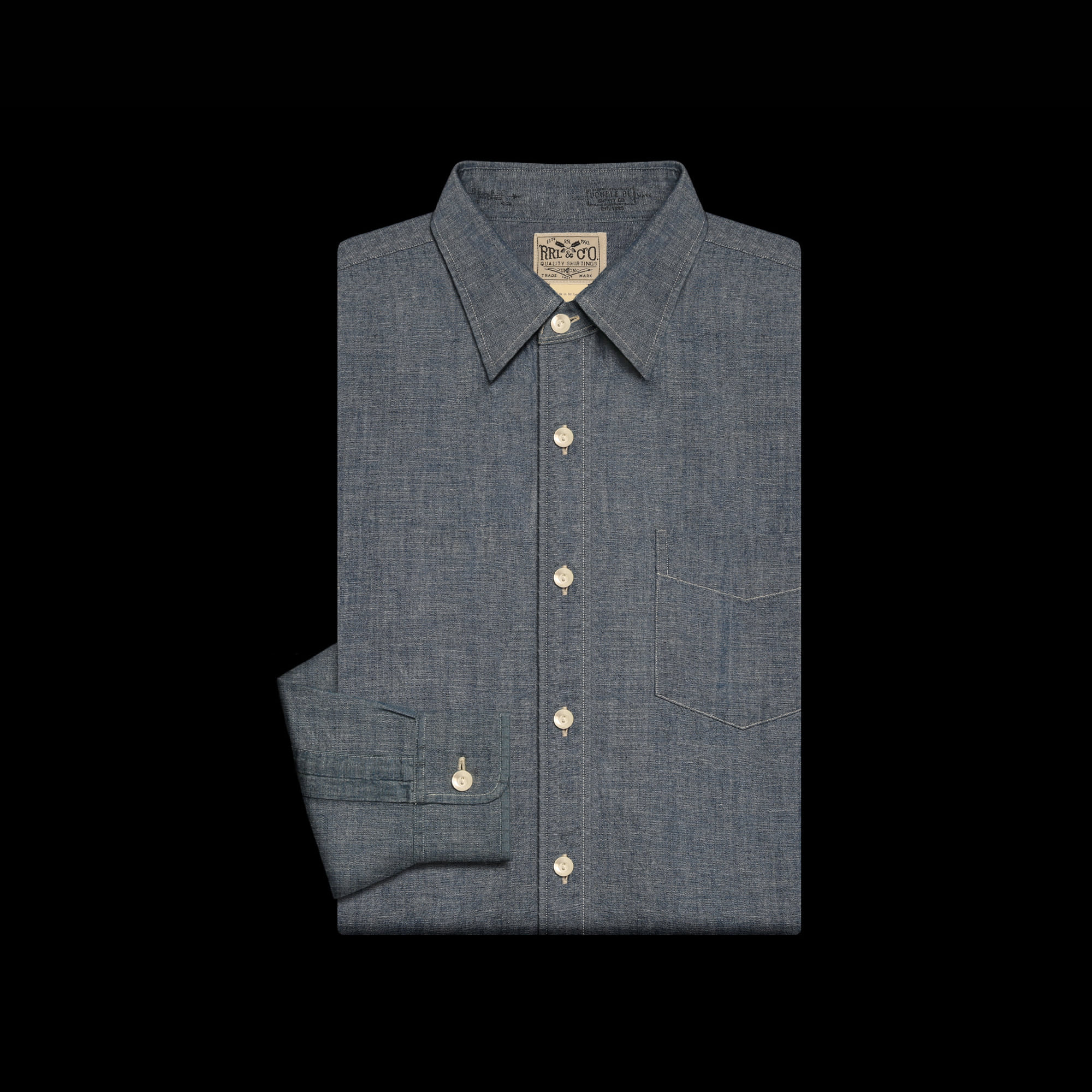 RRLCOTTON CHAMBRAY SHIRT
