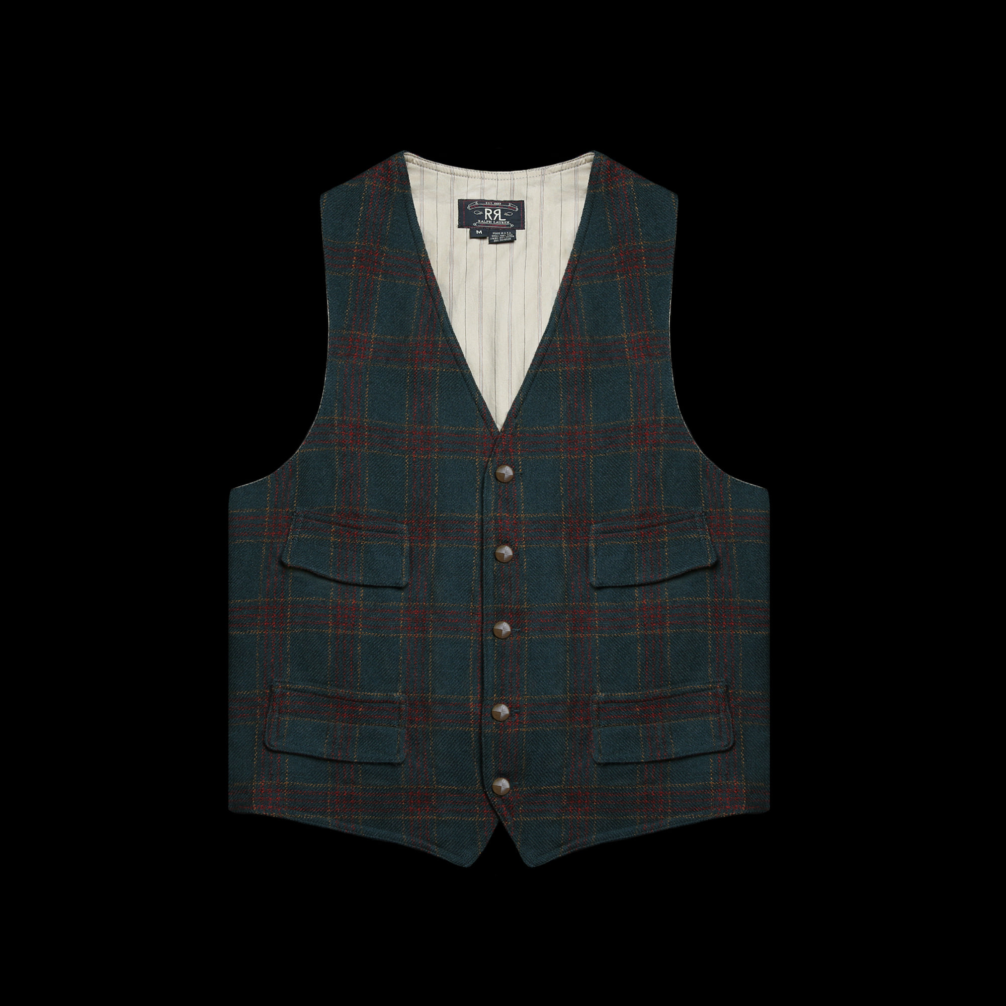 RRLWOOL CHECKVEST