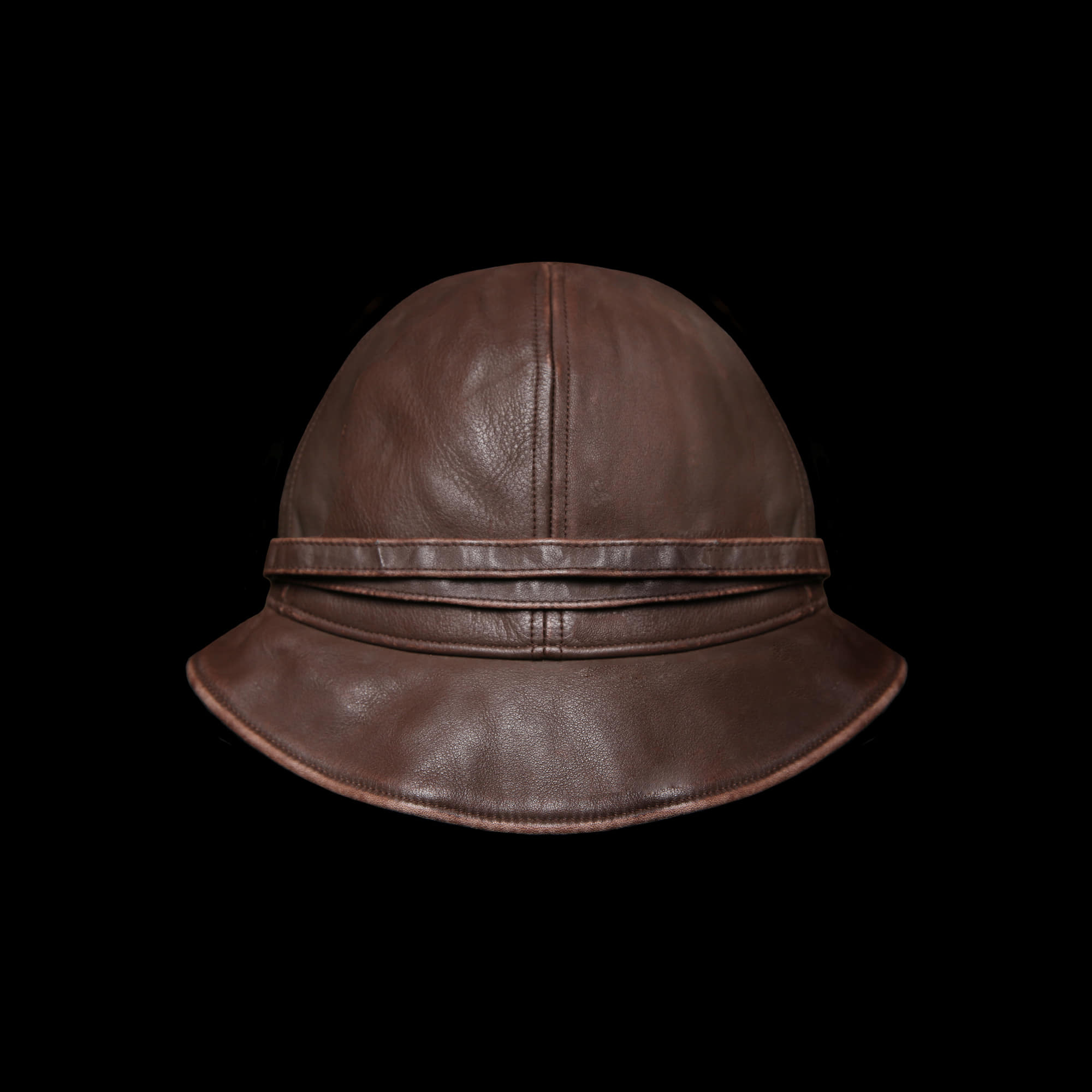 RRLWOMENS LEATHERBUCKET HAT