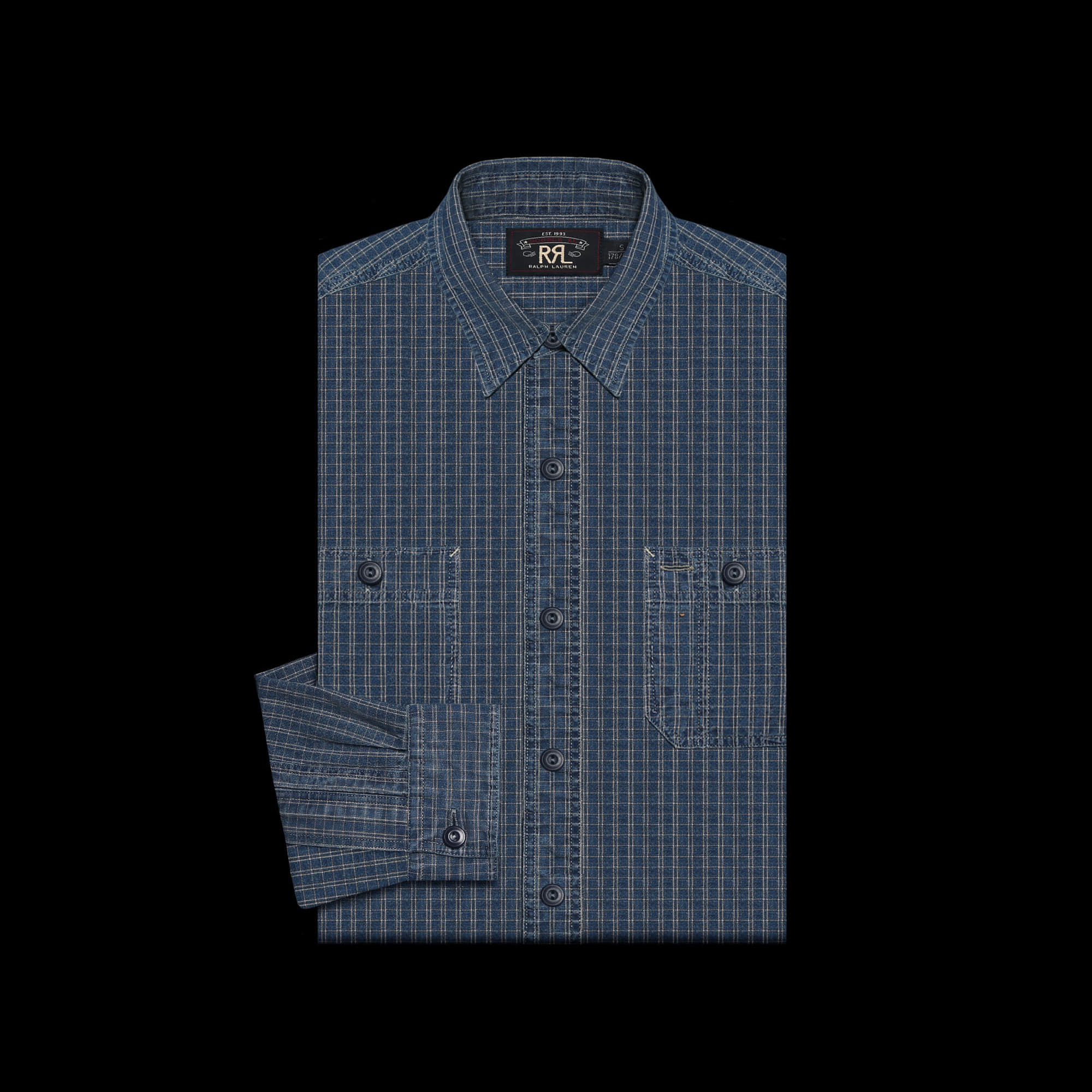 RRLCOTTON CHECK SHIRT