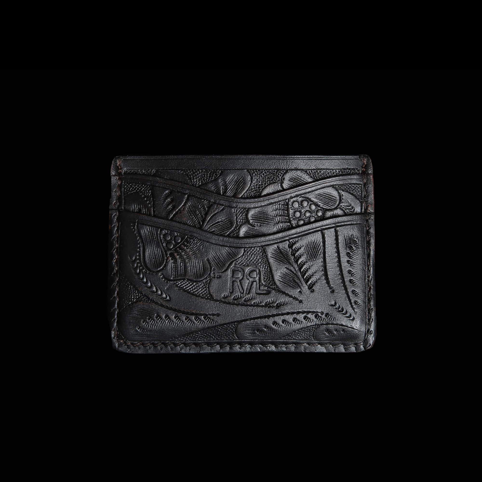 RRLHANDTOOLED LEATHERCARD CASE