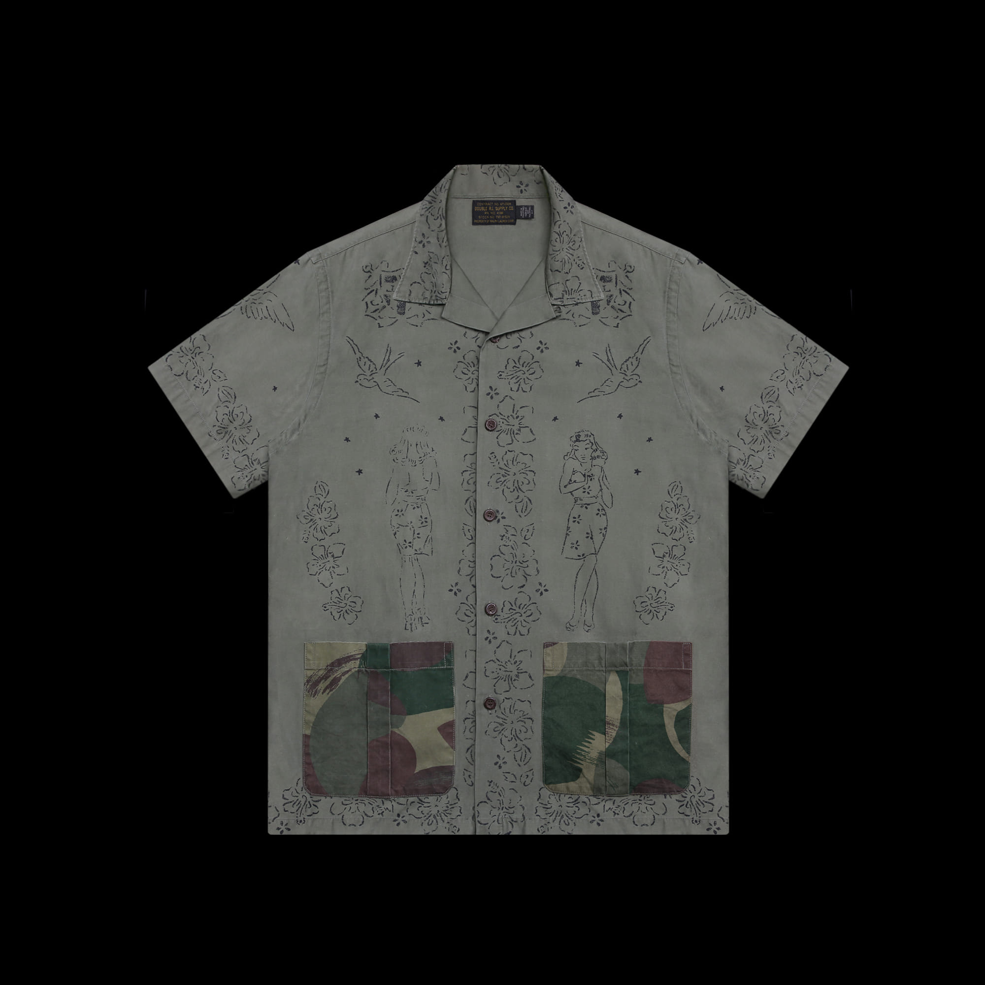 RRLLIMITED EDITIONTRENCH ART GRAPHIC SHIRT