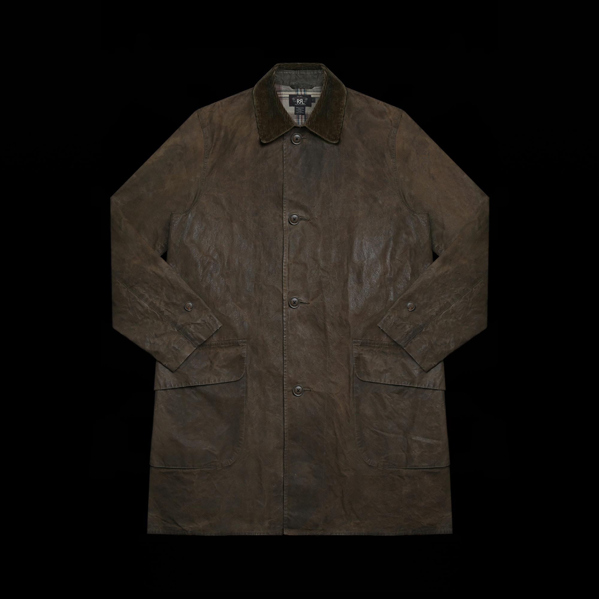 RRLWAXEDCOTTON LONG COAT