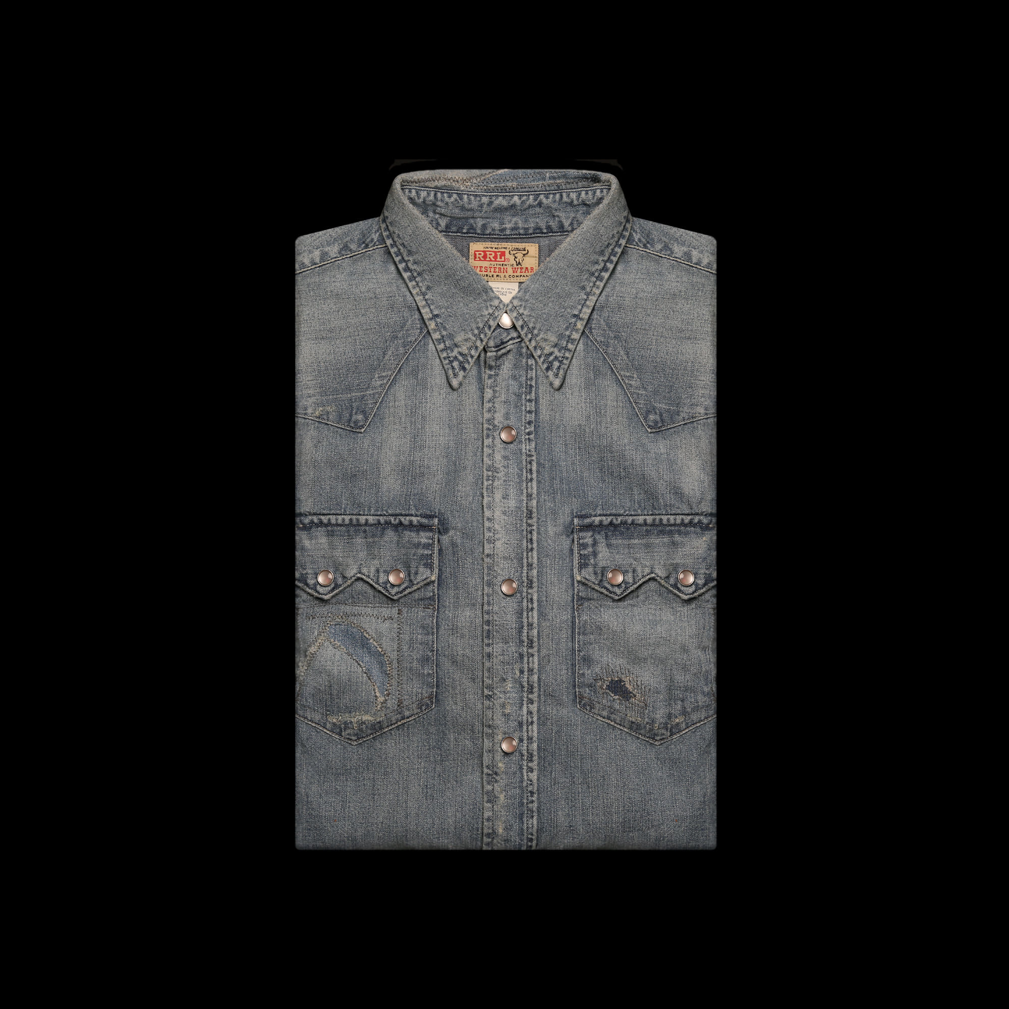 RRLREPAIRED WESTERNDENIM SHIRT