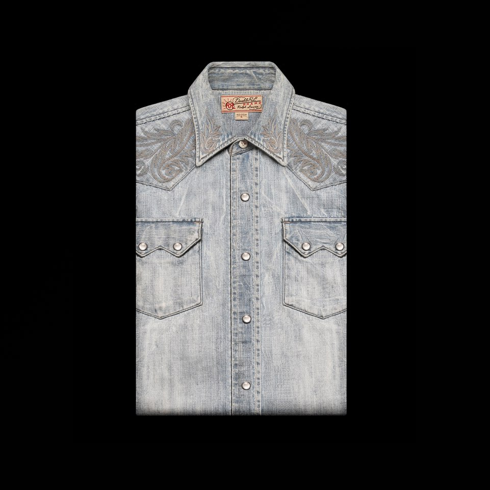RRLWESTERN DENIM SHIRT
