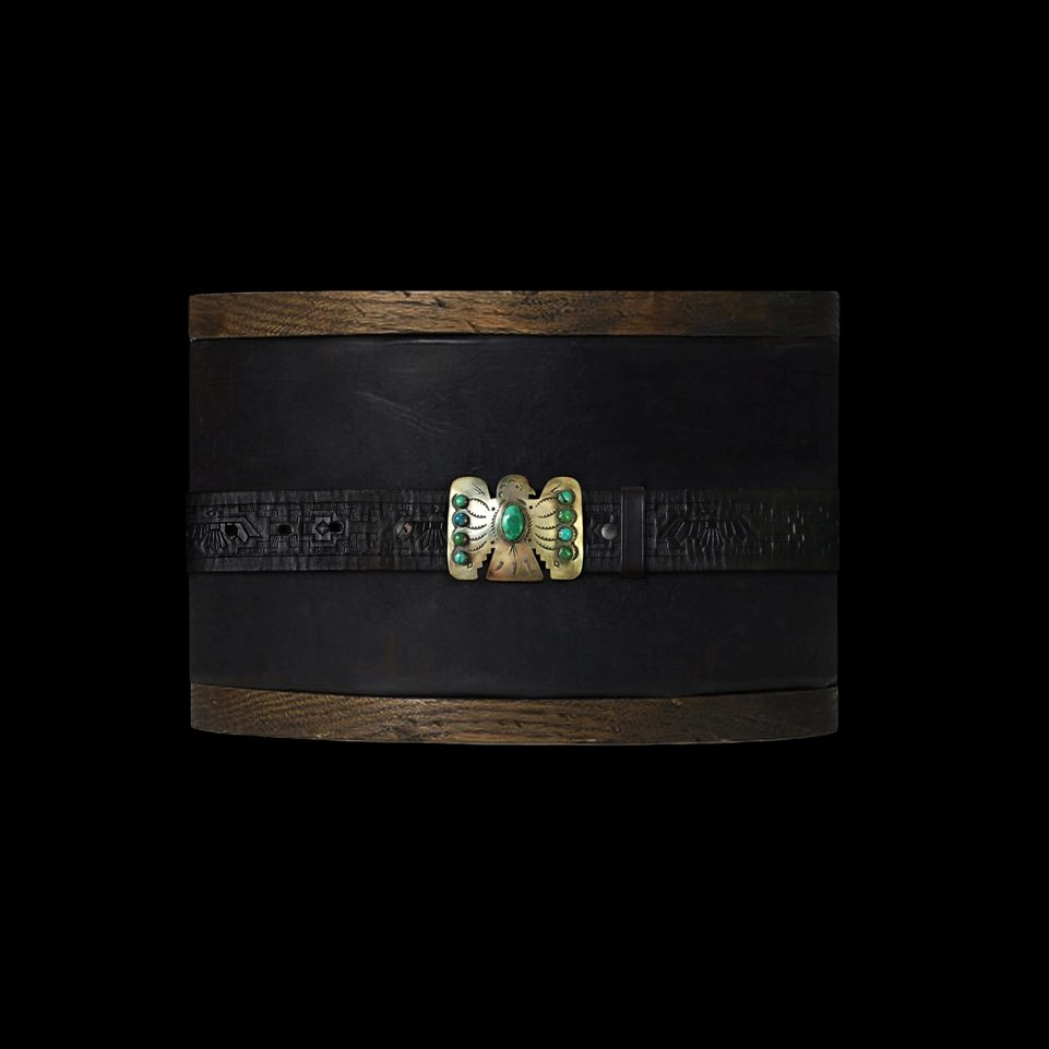 RRLTHUNDERBIRD LEATHER BELT