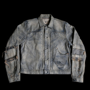 RRLREPAIRED TYPE-1 DENIMJACKET