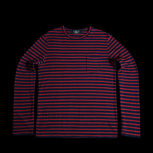 RRLLONG SLEEVE BORDERPOCKET COTTON TEE
