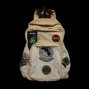 RRLHAND MADE LEATHERCANVAS SQUADRONRUCK SACK