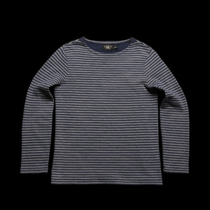 RRLLONG SLEEVE BORDERCOTTON TEE