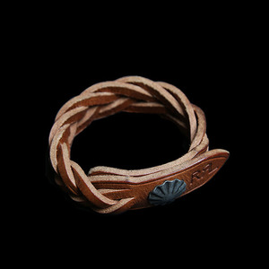 RRLCONCHO LEATHER CUFFBRACELET