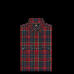 RRLCOTTON PLAID CHECKSHIRT