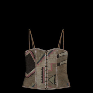 RALPH LAURENLEATHER NATIVE BUSTIER