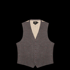 RRLWOOL CHECK  VEST