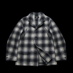 RRLSHADOW PLAID WOOLCOAT