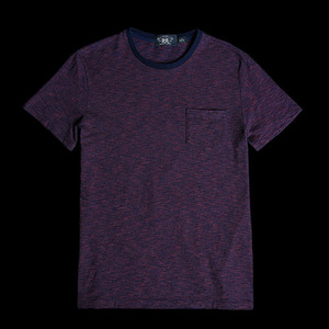 RRLSTRIPED COTTONPOCKET TEE