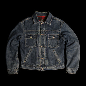 RRLBUCKLE BACK DENIMJACKET