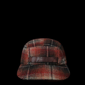 RRLWOOL CHECK HUNTINGCAP