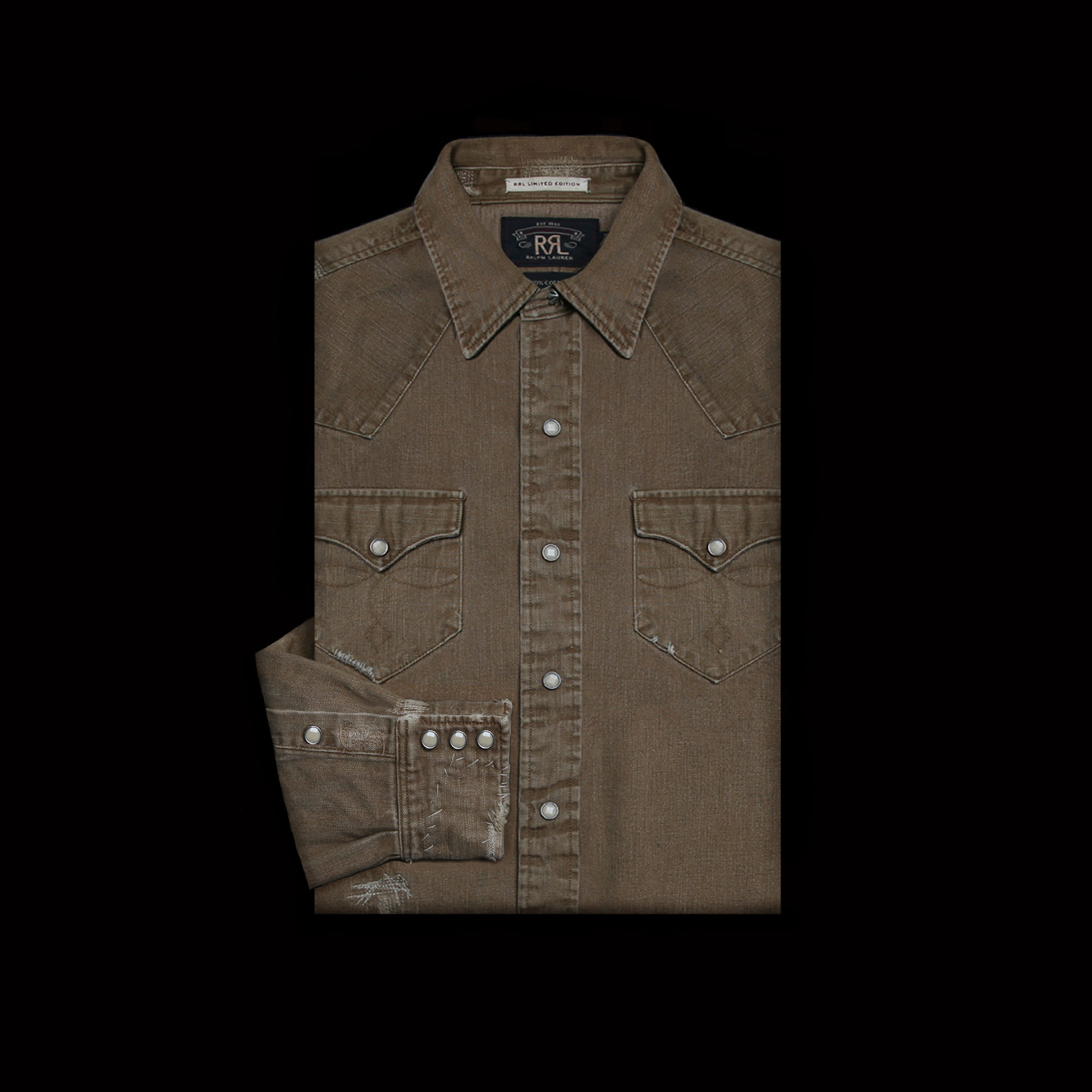 RRLLIMITED EDITIONREPAIRED WESTERN SHIRT